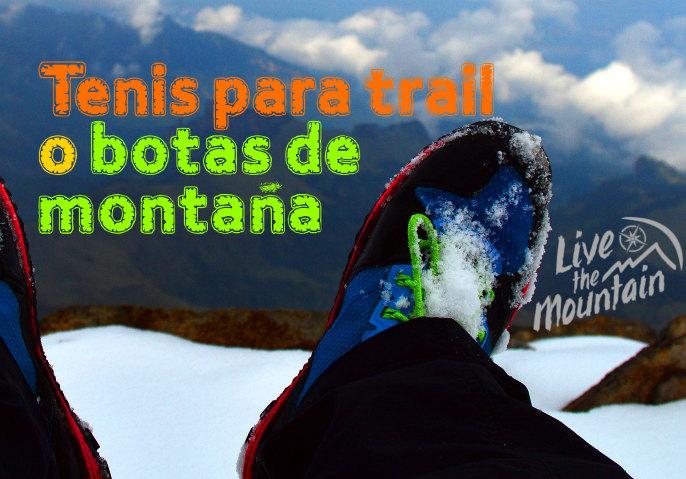 tenis para trail o botas de montaña