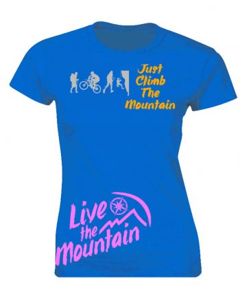 Playera para montañista Just Climb The Mountain