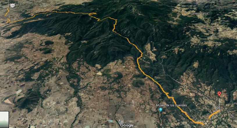 Ruta Travesía Tulancingo Huasca de Ocampo